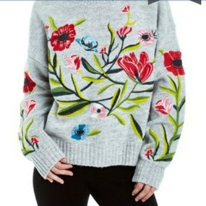 Romeo & Juliet Embroidery Embellished Sweater Sm